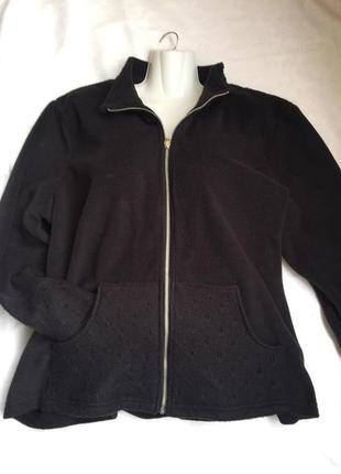 Отличная курточка флисовая раз 3-4xl (56)