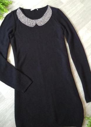 Маленькое черное платье туника с воротничком george
