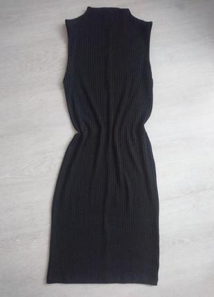 Платье  трикотажное аюв полоску, сарафан