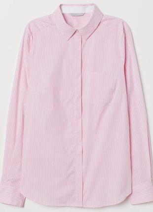 Нежная розовая рубашка в полоску