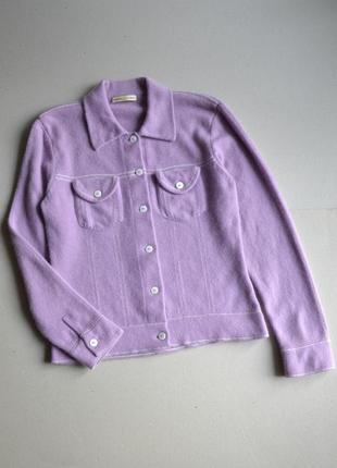 Кашемировая куртка кофта жакет р.m-l 100% кашемир cashmere connection