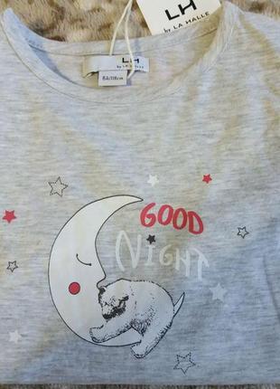 Ночная сорочка с милым рисунком на возраст 6-8 лет