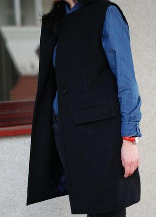 Пальто-жилет с отложным воротом