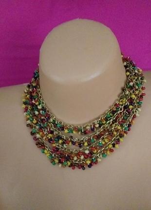 Красивое ожерелье на тонкую шейку