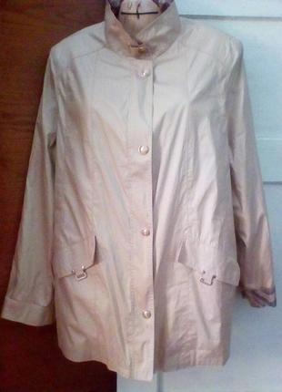 Куртка ветровка песочно-золотистого цвета большой рр.baronia.