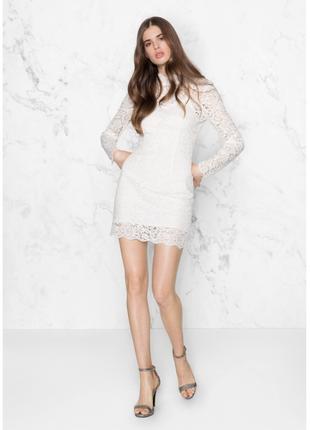 Элегантное женственное белое платье кружевное & other stories открытая спинка