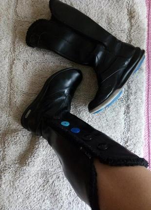 Черные кожаные сапоги reebok thinsulate оригинал 37 размер