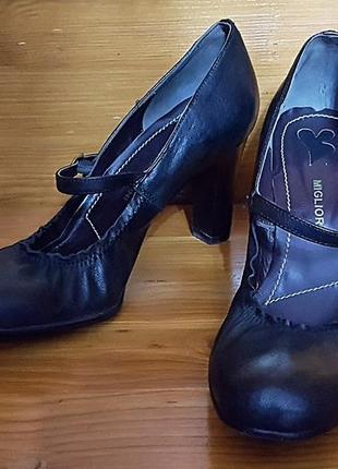 Кожаные туфли от migliorini italy