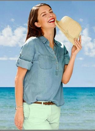 Стильная джинсовая рубашка, размер 12-14