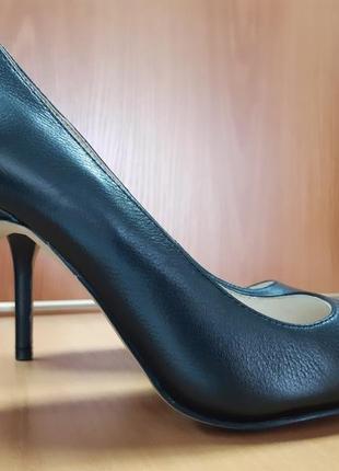 Туфли кажаные лодочки в офис деловой стиль
