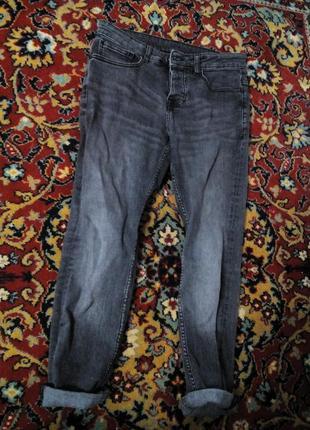 Серые джинсы denim co