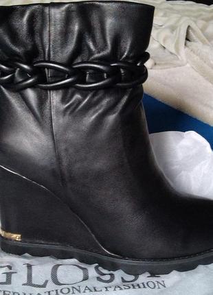 Ботинки, ботильоны glossi. новые