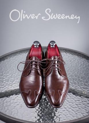 Дерби oliver sweeney, италия 43,5-44 мужские кожаные туфли бу
