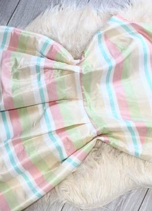 Воздушное полосатое платье баллон f&f р. l, 46-48