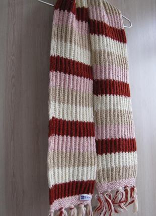 Супер теплый шерстяной шарф брэнд kusan лондон-н.зеландия-непал