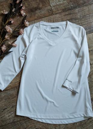 Спортивная блуза от columbia с технологией omni-shade белая-s-ка