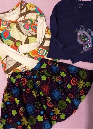 Комплект юбка+2 реглана