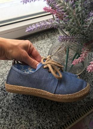 Клевые джинсовые туфли , мокасины lcwaikiki 30 размер новые
