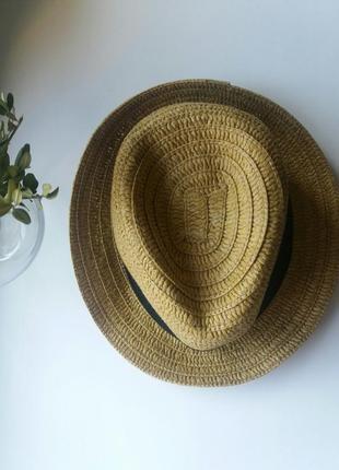 Шляпа с черной тесьмой la redoute пляжная отдых