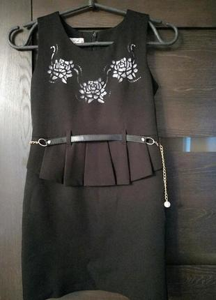 Сарафан школьный платье