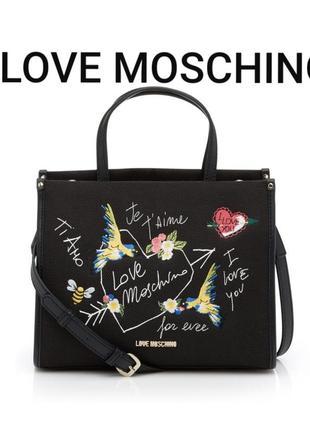 Love moschino luxury крутая брендовая сумка в новом состоянии