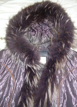 Куртка зимняя на подстежке из кролика,мех и подстежка снимается