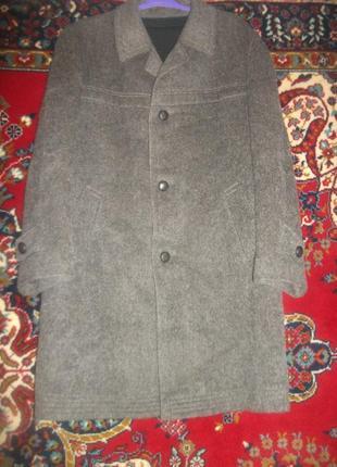 Мужское пальто шерстяное