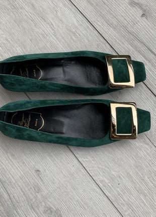 Кожаные туфли,балетки, шкіряні туфлі roger vivier