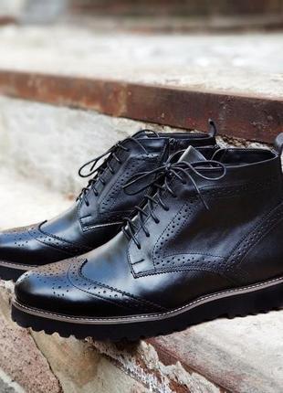 Зимние мужские броги сапоги ботинки натуральная кожа. размеры 40-45, chester