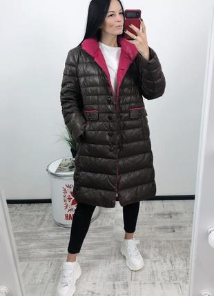Пуховик одеяло оверсайз пух перо mariposa куртка зима зимняя куртка