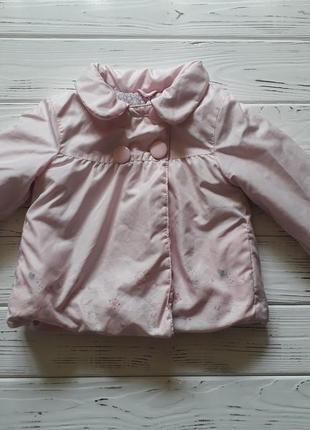 Нежная куртка демисезонная с зайками