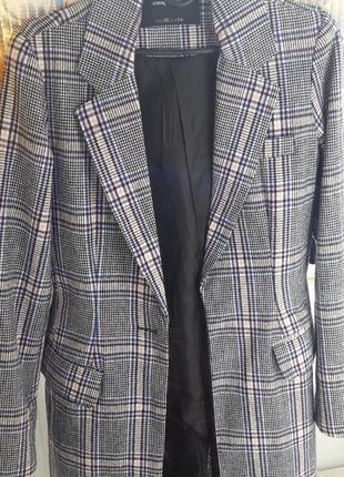 Тренч, пальто, модная клетка