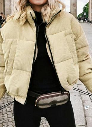 Шикарная осенняя женская вельветовая куртка