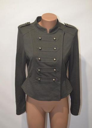 Симпатичный пиджак, жакет, кофта милитари р.10-12 ann christine
