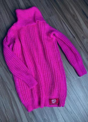 Платье свитер вязаный