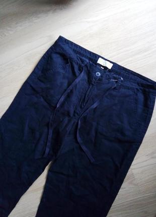 Льняные брюки синие blue motion лен 55%
