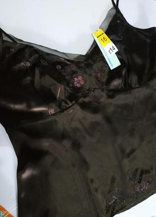 Маечка amaranto женская шоколадного цвета