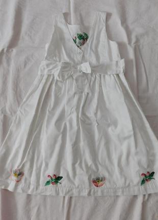 Вышитое платье ручная вышивка5 фото