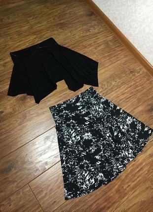 Чёрная юбка летняя 2 штуки