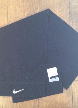 Флисовый шарф nike черный