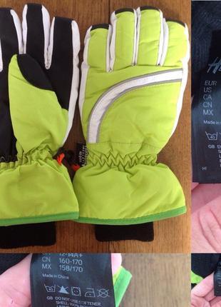 Лыжные перчатки h&m р. 12-14 лет