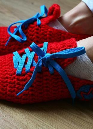 Носки кеды тапки вязаные. размер 39-41.