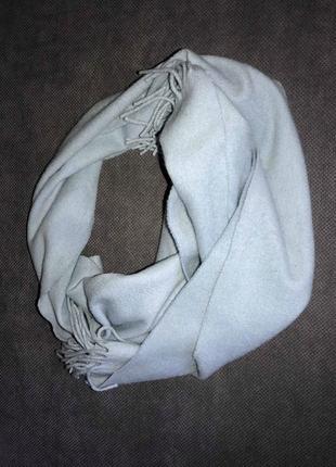 Голубенький мягкий нежный кашемировый шарф loro piana