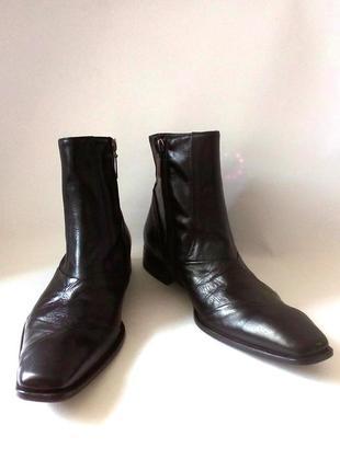 Испания! кожаные демисезонные мужские ботинки /сапоги от бренда dune, р.42 код m4231