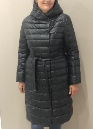 Зимний длинный пуховик veralba l/xl