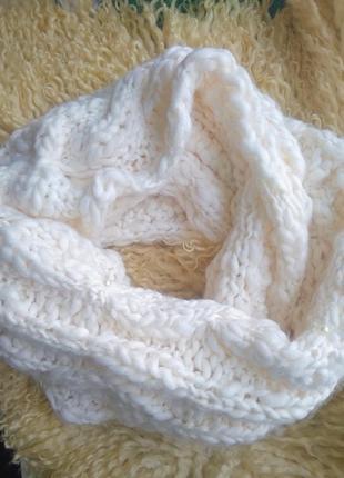 Хомуд снуд бафф шарф вязаный