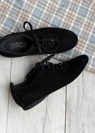 Кожаные кроссовки, туфли salvatore ferragamo