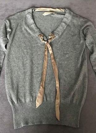 Стильный оригинальный свитер класса люкс шелк кашемир schumacher