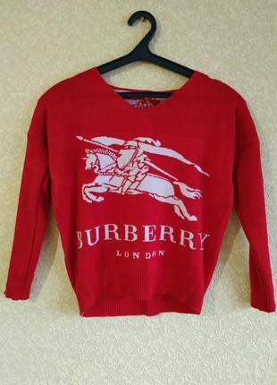 Burberry яркий свитер, свитшот, пуловер идеал