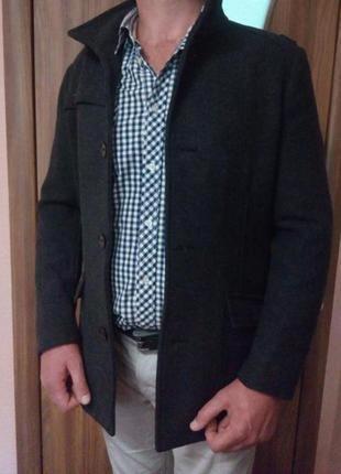 Стильное мужское демисезонное пальто тренч куртка h&m